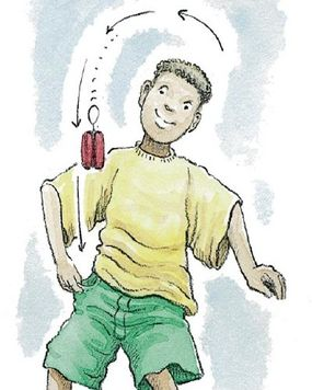 Try catching the yo-yo in your pocket.