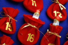 Hide little treats for the family in your advent calendar.