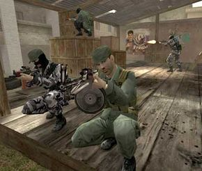 A screen shot of the video game America's Army.