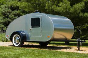 Teardrop trailers are the most aerodynamic shape -- but aerodynamics alone won't achieve fuel savings.