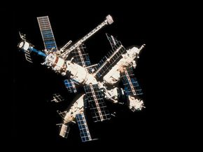 Space station Mir, where the first aeroponic tests by NASA were conducted.