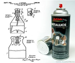 Eric Rotheim's original aerosol-can patent includes the same basic elements found in cans today.