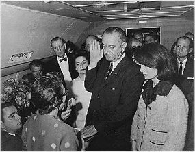 In November 1963, Lyndon Johnson became president onboard Air Force One.