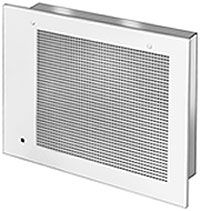 A grill-style air cleaner that uses a filter.