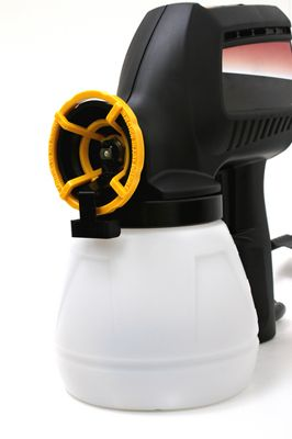 An airless sprayer is a fast and efficient way of putting paint on a surface.