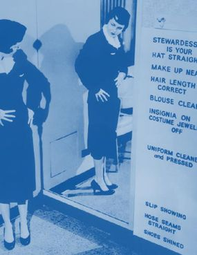 Early on, airlines imposed tight restrictions on stewardesses.