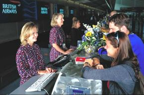 Line personnel, such as reservation clerks, is the largest group of airline employees.