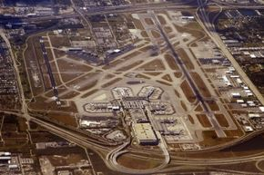 From this aerial view, you can see how commercial airports may require a little bit of room to spread out.
