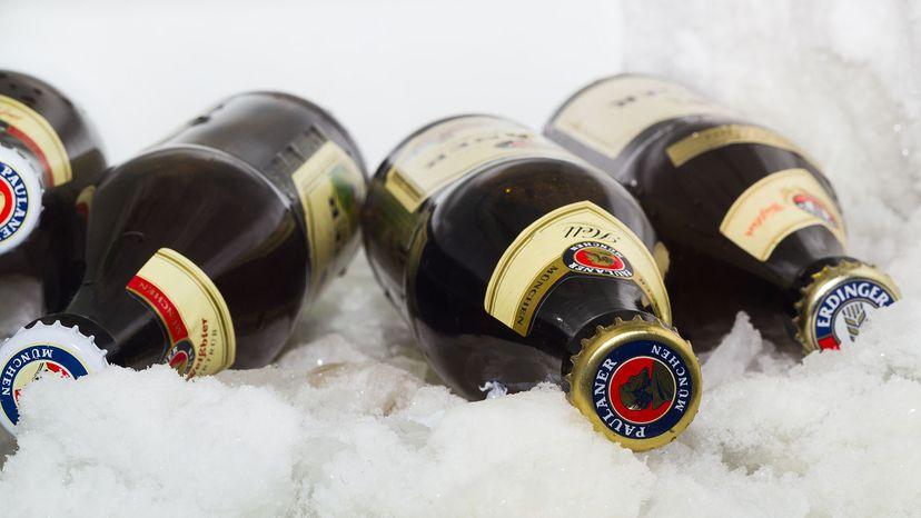 beer in freezer