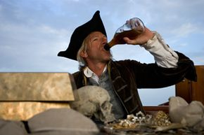That pirate may not care what the proof of what he's swilling is, but we do.