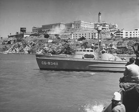 Alcatraz during the prison riots of May 1946