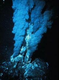 Hydrothermal vent in the ocean floor