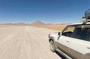 Traveling on a dirt road in Bolivia