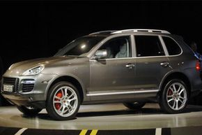 The 2008 Porsche Cayenne sport utility vehicle is displayed at the North American International Auto Show in Detroit, Mich.