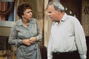 """Jean Stapleton as Edith Bunker and Carroll O'Connor as Archie Bunker in """"All in the Family."""""""