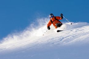 Winter Sports Image Gallery An off-piste skier in Valais, Switzerland. See more winter sports pictures.
