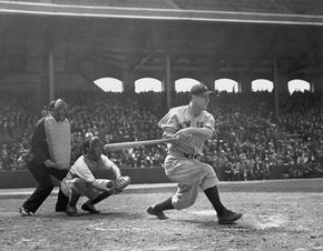 Lou Gehrig played for the New York Yankees through the 1920s and '30s.