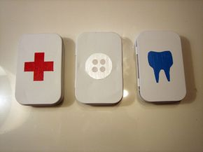 Kate Pruitt's Altoids tins survival kits are attractive and handy.