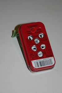 Use a piece of paper to trace the button pattern to make drilling the holes easy.