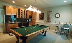 Basements are great for transforming into guest rooms, workout areas, or game rooms.