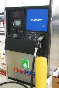 A 24-hour self-service propane fueling station in Austin, Tex.