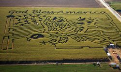 In 2002, the Fritzler farm celebrated America with its maze.