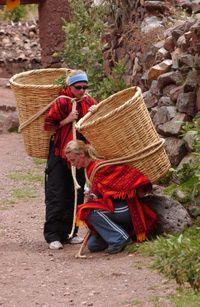 Megan and Heidi perform a Detour in Huambutio, Peru.