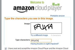 You'll encounter this screen the first time you open the Amazon Cloud Player.