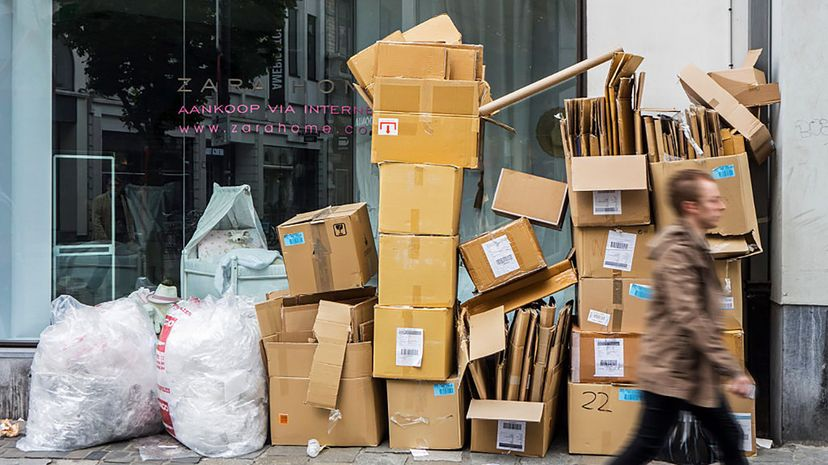 Has the increase in e-commerce had an impact on the cardboard industry? Arterra/UIG/Getty Images