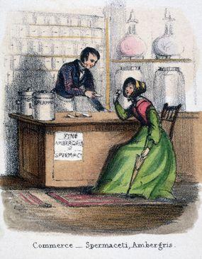 woman buying perfume