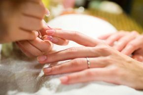 An American manicure looks a lot like its French cousin -- just a touch more natural.
