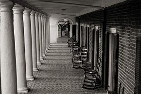 Slenderman is usually inserted digitally into pictures, dressed in a black suit, with tentacles for arms, hovering eerily in the distance of deserted places (or in this case, the University of Virginia).