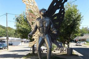 The famous Mothman statue can be seen in Point Pleasant, West Virginia.