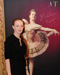 Gillian Murphy, a principal dancer at the American Ballet Theatre, attends a press conference in Beijing.