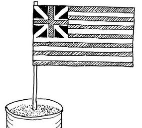 The Colonial flag was the first American flag.