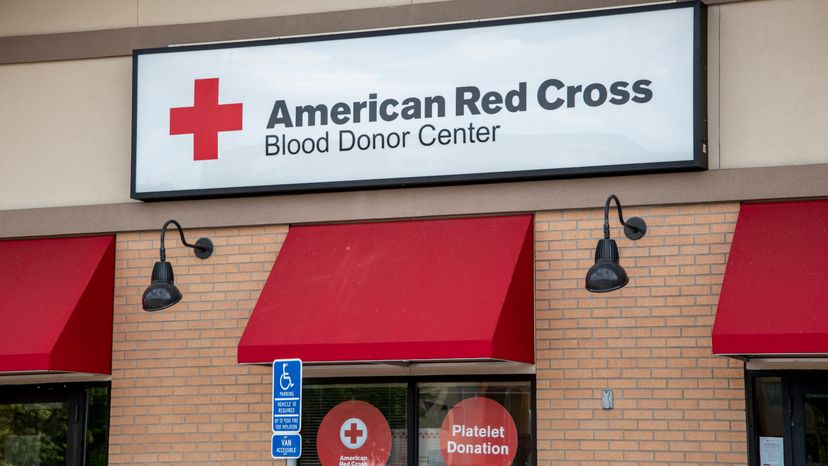 American Red Cross blood donor center.