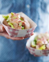 If you like a po' boy stuffed with seafood, you may like this closely related sandwich: the Maine lobster roll.