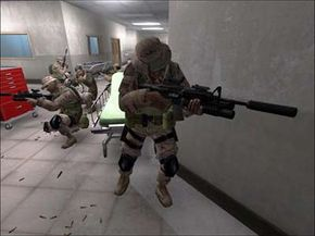 During training, players must prove their marksmanship.