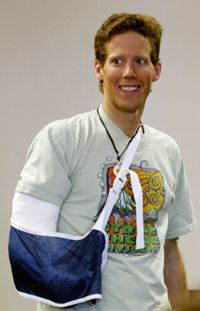 Using a utility knife, Aron Ralston sawed off his own right arm in a remote Utah canyon. Check out extreme sports pictures.