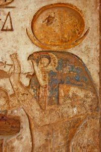 Ancient Egyptians modeled their eye makeup after the god Horus.