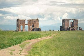 You can still see portions of the Appian Way, which connected Rome to Brindisi, Italy, even though the road was constructed more than 2,000 years ago.