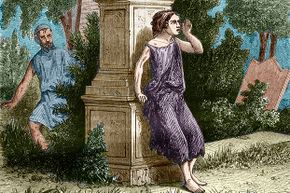 A prostitute waits for her client in ancient Rome.