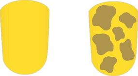 Add small, random shapes all over the nail to create a giraffe pattern.