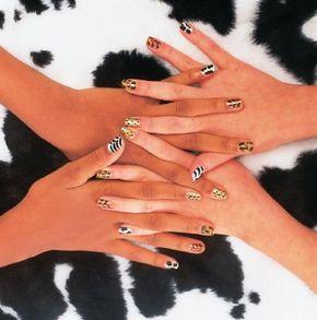 Make the animal house nail design.