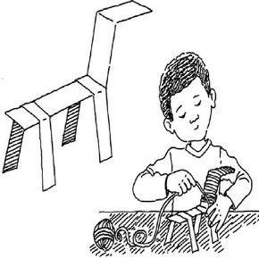 Make a cardboard animal craft.