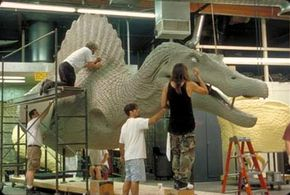 Building a dinosaur for Jurassic Park. See more dinosaur images.