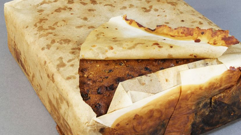 """The fruitcake recently discovered preserved by the Antarctic cold has been deemed """"almost"""" edible by researchers. Antarctic Heritage Trust"""