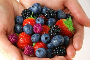 Berries are rich in antioxidants, which can help prevent cell damage.