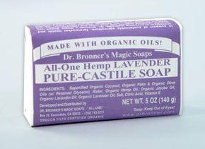 Dr. Bronner's Magic Soap, an organic soap.