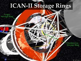 The storage rings on the spacecraft will hold the antimatter.